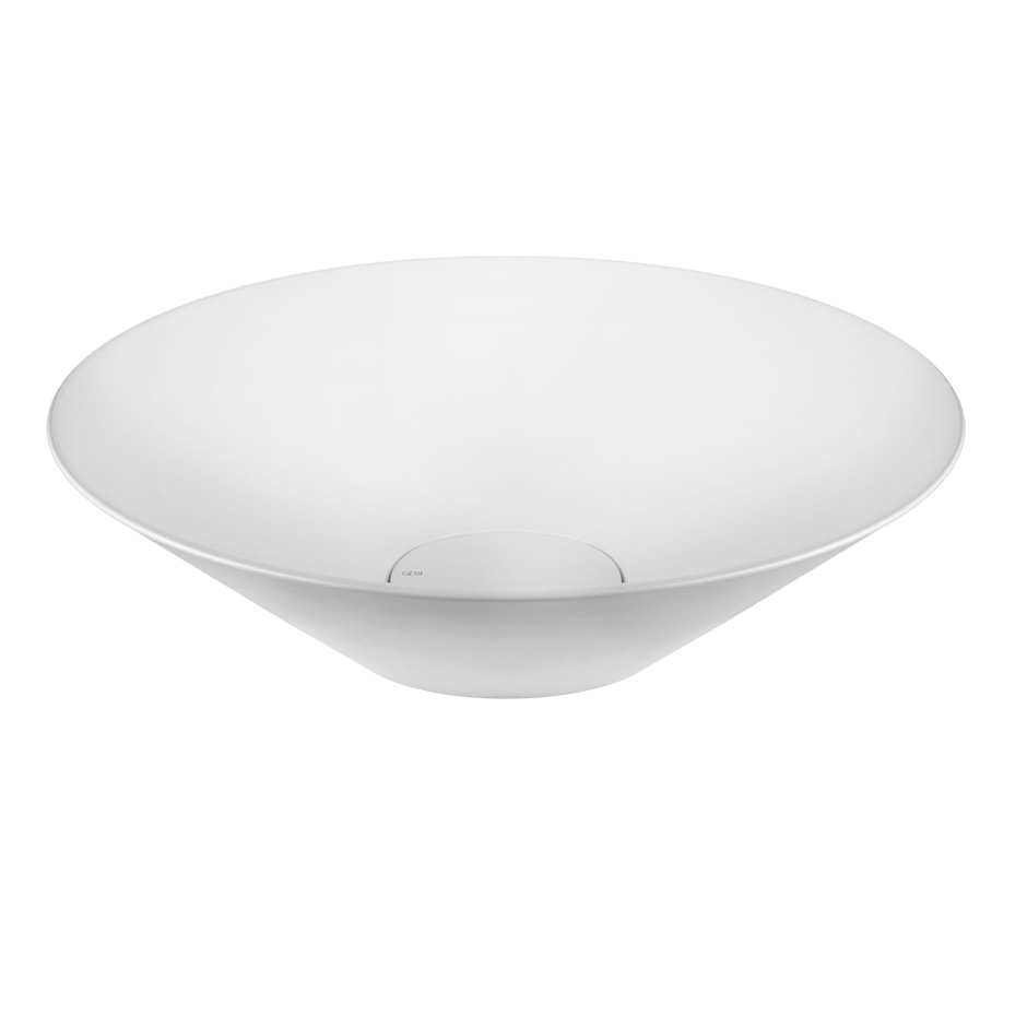 Раковина накладная GESSI CONO белая матовая (45903-521)