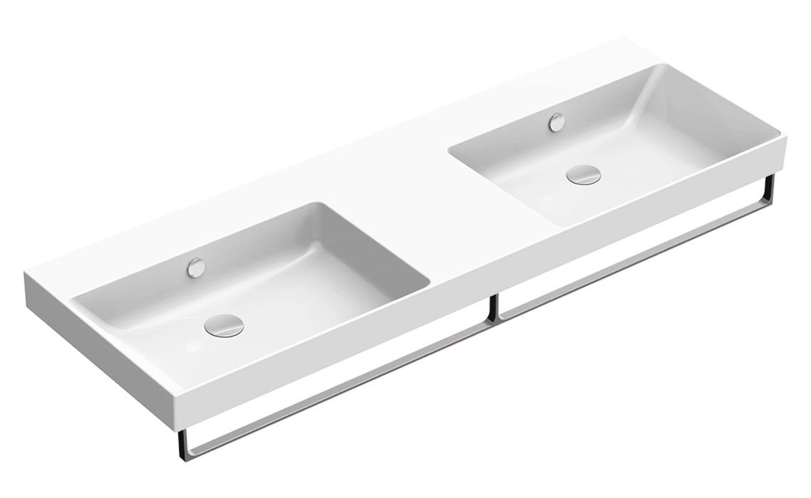 Умывальник Catalano NEW ZERO двойной 150×50 белый 1150ZEDUP00