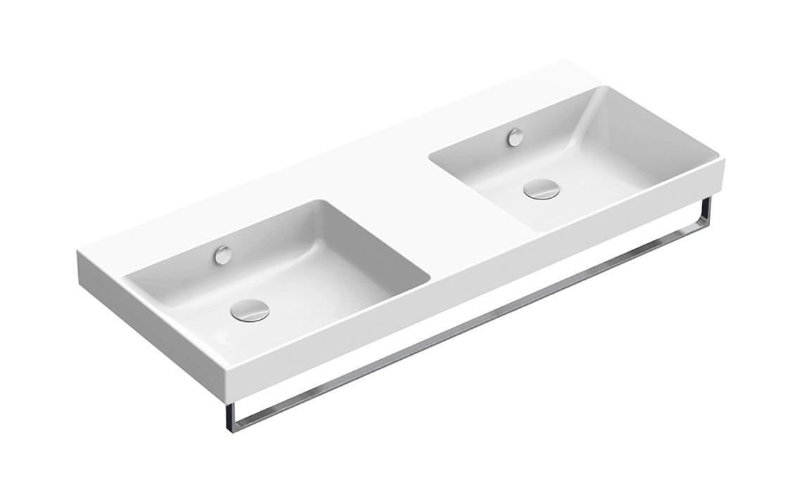 Умывальник Catalano NEW ZERO двойной 125×50 белый 1125ZEDUP00