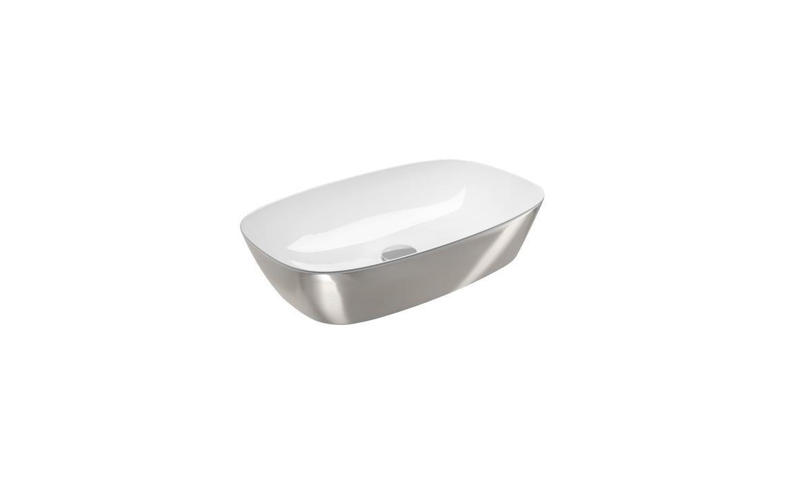 Умывальник Catalano Gold&Silver 100х50 белый/серебро 160APGRLXBA