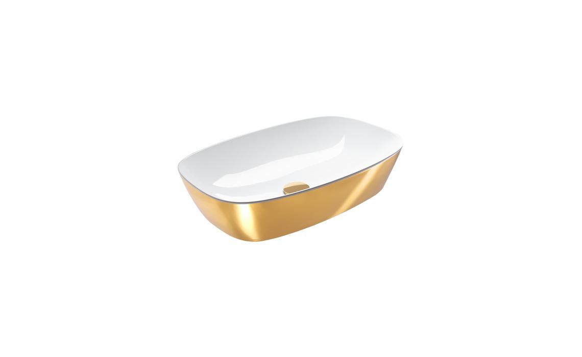 Умывальник Catalano Gold&Silver 100х50 белый/золото 160APGRLXBO