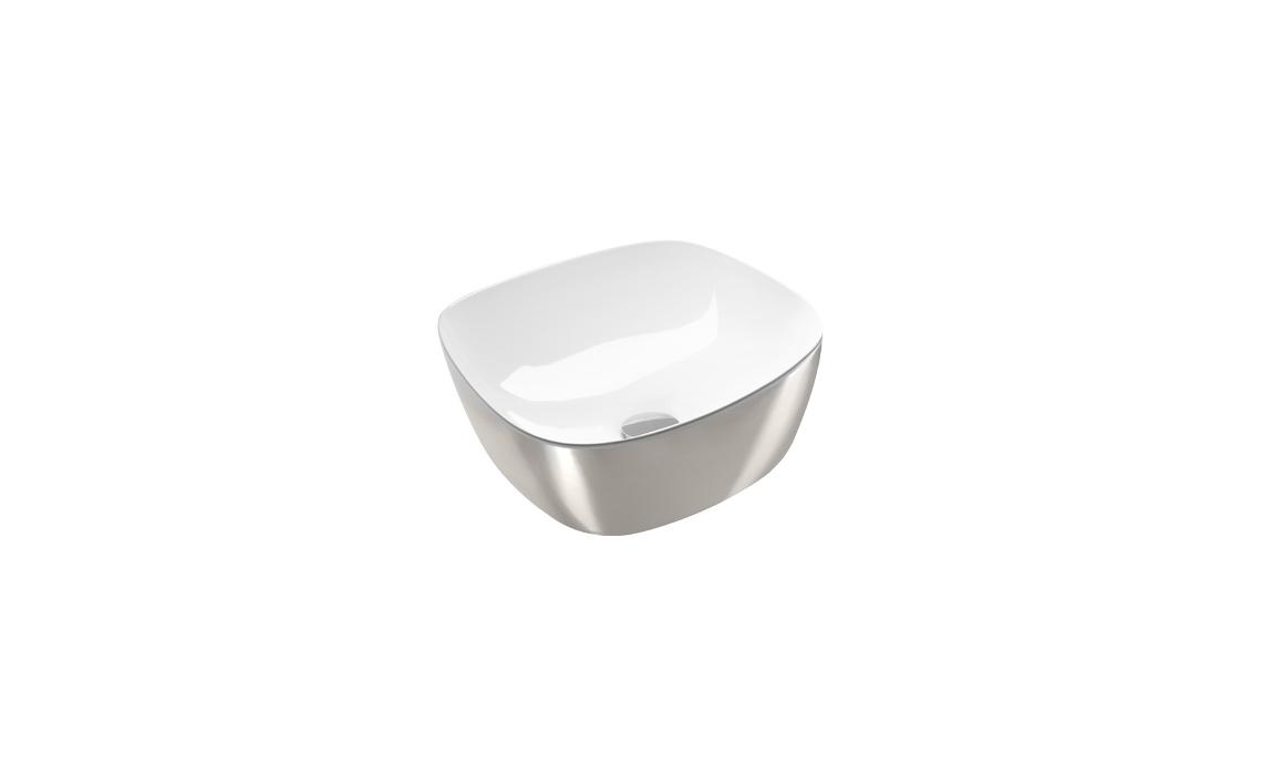 Раковина Catalano Gold&Silver 40х40 белый/серебро 140APGRLXBA