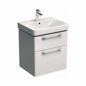 Шкафчик ТРАФФИК 60см для раковины, белый глянец (89433)