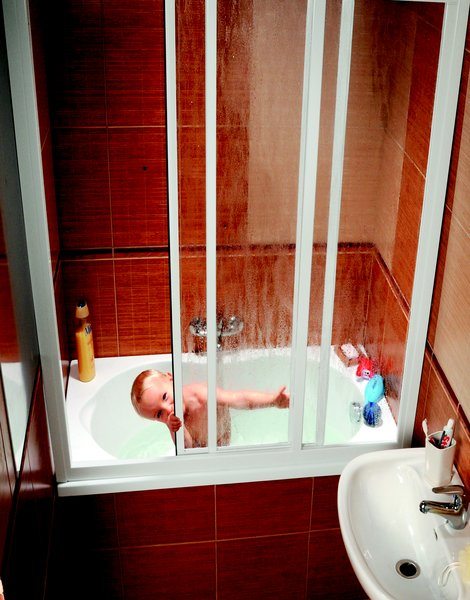 Штора для ванны Ravak AVDP3 120 rain, сатин, полистирол