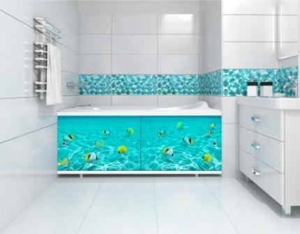 Экран под ванну Метакам Ультра-Легкий АРТ (Фотопечать), подводная одиссея, 150 см
