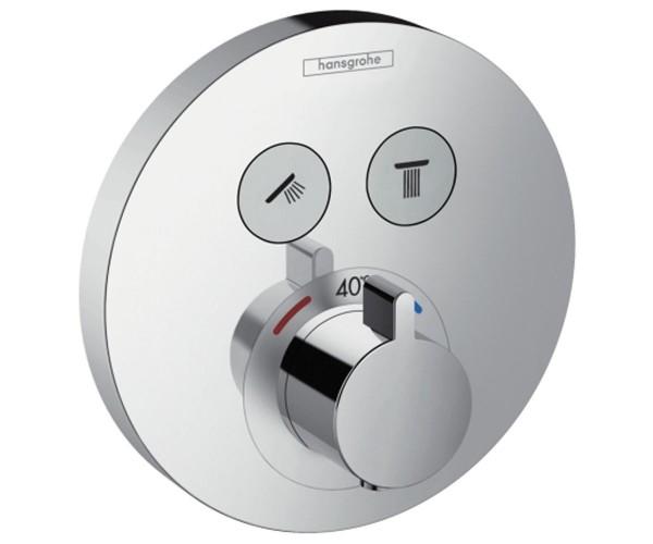 Верхняя часть смесителя с термостатом для душа HANSGROHE ShowerSelect S (15743000)