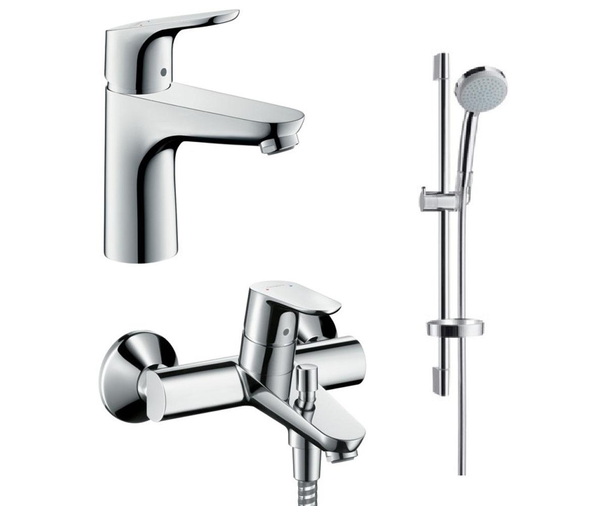 Набор смесителей для ванны 3 в 1 HANSGROHE Focus (31642773)