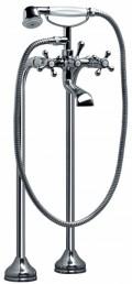 Змішувач Armatura RETRO двухвентильний для ванни (монтаж на підлозі), хром, L = 105 мм, H = 957 мм