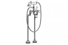 Смеситель Armatura RETRO CLASSIC двухвентильный для ванны (монтаж на полу), хром, L = 115 мм, H = 1085 мм