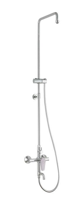 Душевая система Аква Родос OPTIMA с смесителем для ванной (без верхнего душа и ручной лейки)