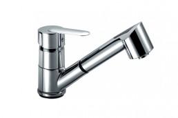Змішувач Armatura CYRKON змішувач для мийки з висувним виливом, L = 215 мм (ручка Decorum)