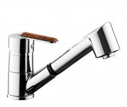 Змішувач Armatura AMBER змішувач для мийки з висувним виливом, L = 215 мм