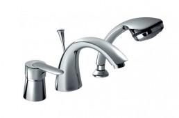 Смеситель Armatura CYRKON однорычажный для ванны на три отверстия, L = 190 мм (ручка Decorum)