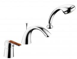Смеситель Armatura AMBER однорычажный для ванны на три отверстия, L = 190 мм