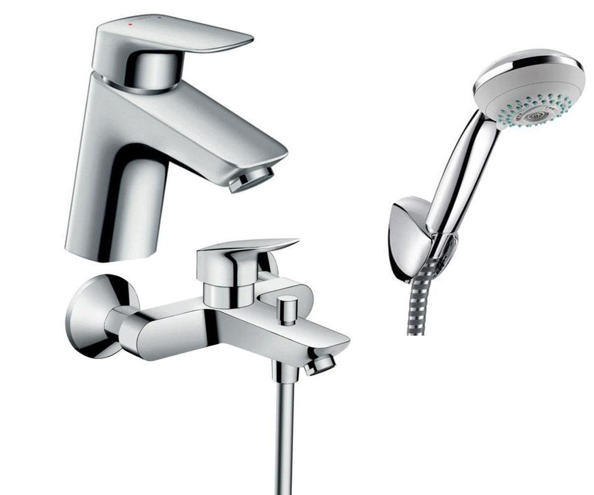 Набор смесителей для ванны 3 в 1 HANSGROHE Logis 70 (710714310)