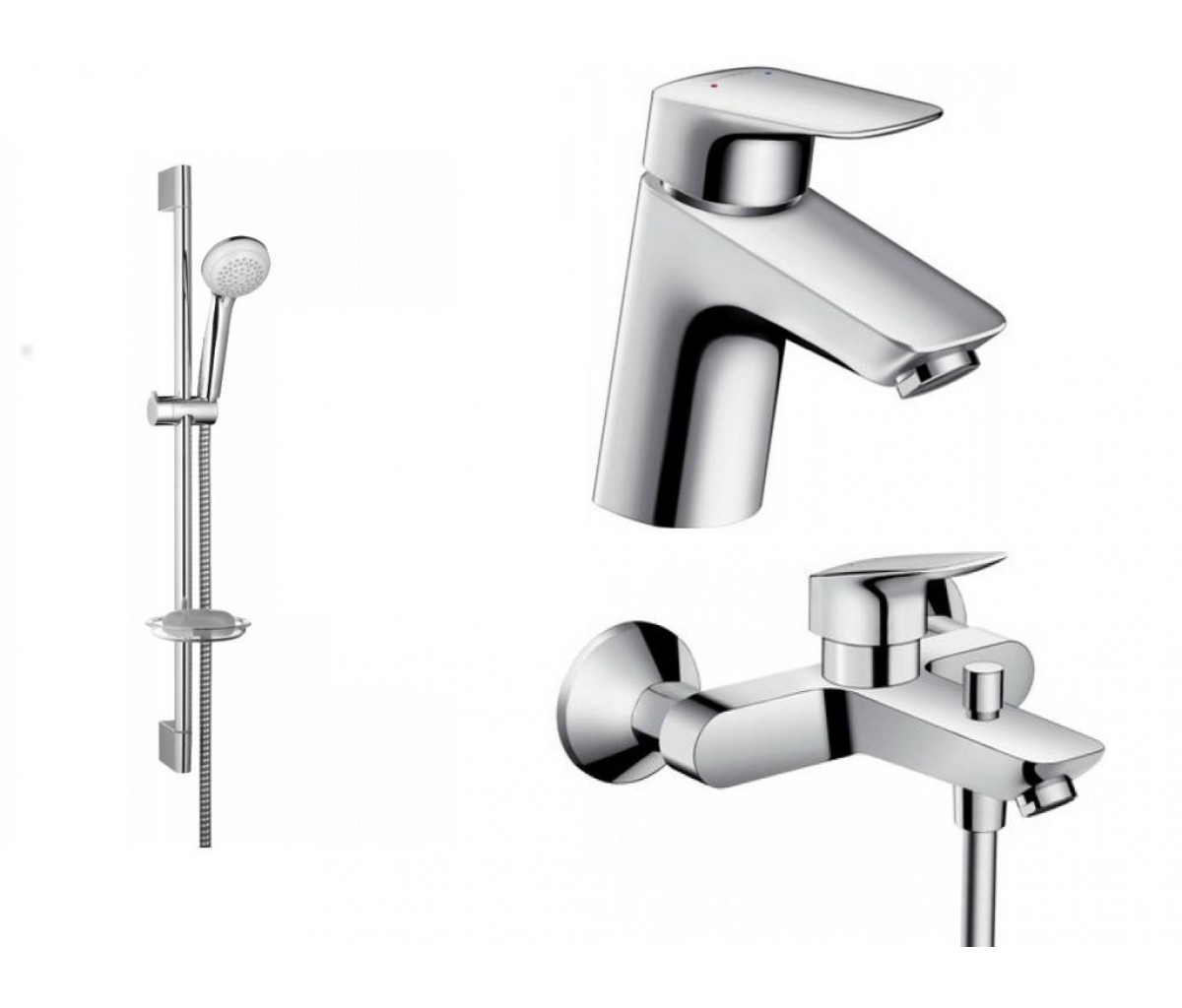Набор смесителей для ванны 3 в 1 HANSGROHE Logis 70 (710714311)