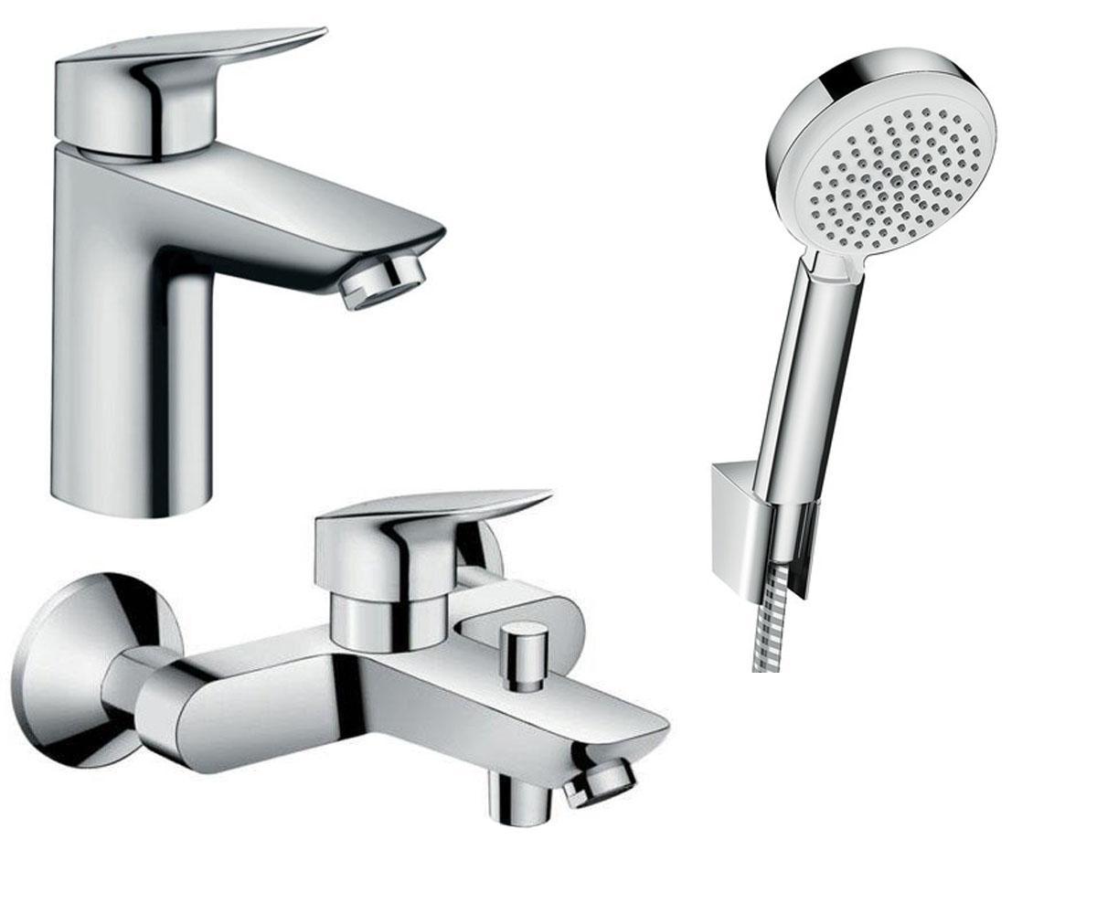 Набор смесителей для ванны 3 в 1 HANSGROHE Logis 100 (711714310)