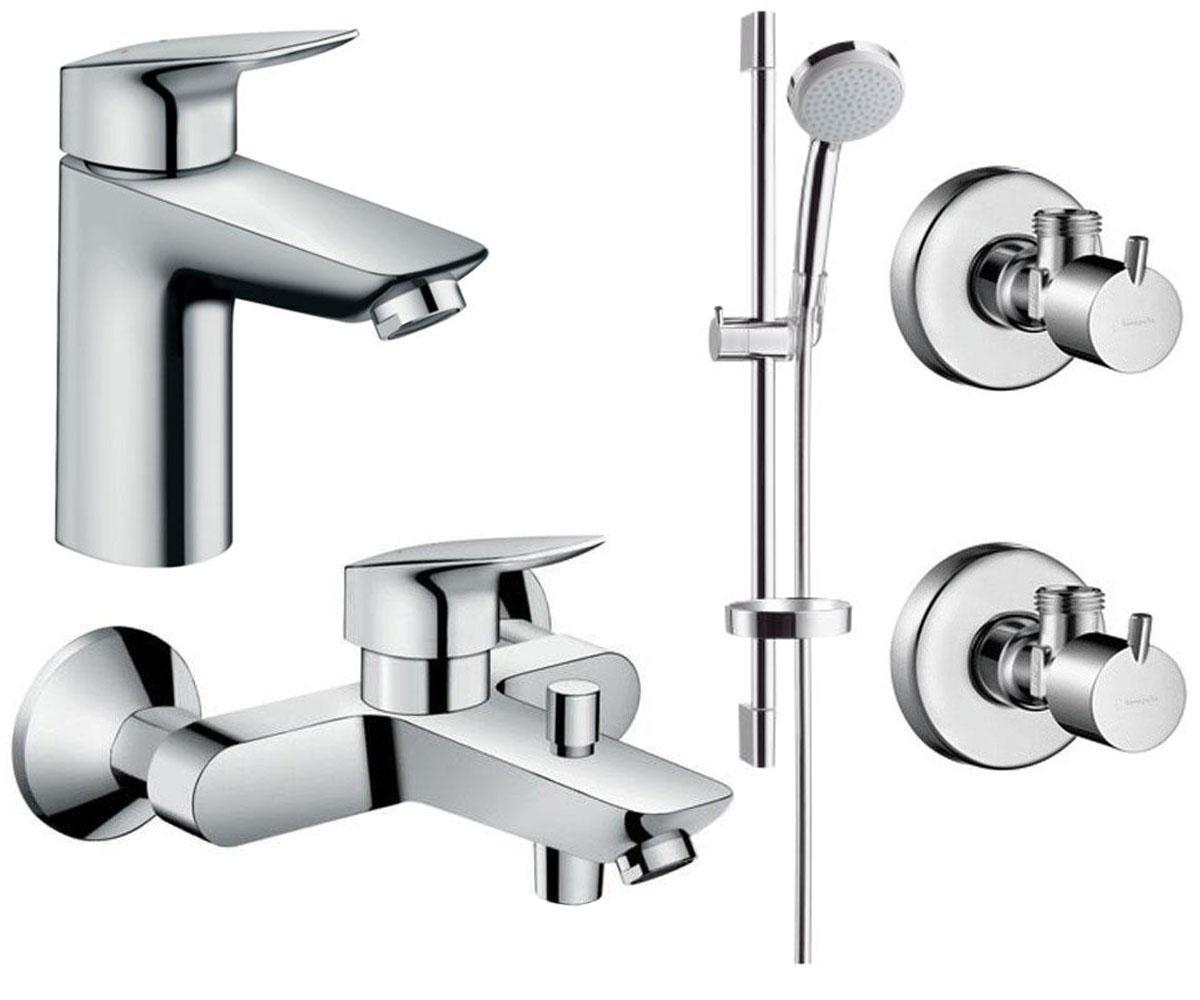 Набор смесителей для ванны 3 в 1 HANSGROHE Logis 100 (711714311)