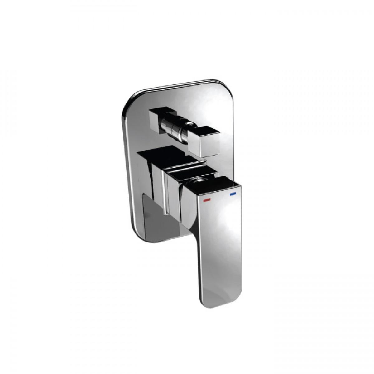 Змішувач Аква Родос TERRA хром прихованого монтажу для ванни з перемикачем