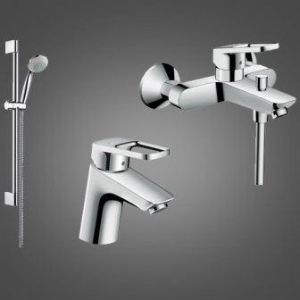Набор смесителей для ванны Hansgrohe Logis Loop, умывальник 70 (71150000+71244000+27728000)