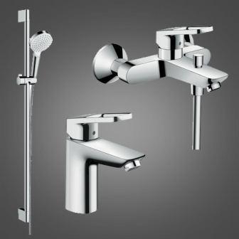 Набір змішувачів для ванни Hansgrohe Logis Loop, умивальник 100 (71151000 + 71244000 + 27353400)