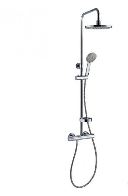 Душевая система Am.PM Akita (смеситель для душа с термост., верхн.душ, ручн.душ, штанга, шланг) 409111000