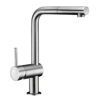 Смеситель Imprese LOTTA для кухни, выдвижная лейка , сталь, 40 мм 55403-SS
