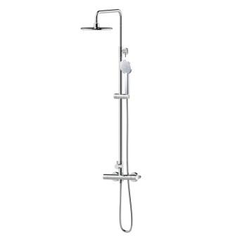 Душова система Imprese CENTRUM (змішувач-термостат для душу, верхній і ручний душ 1режім, шланг полімер) Т-15420