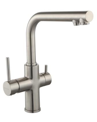 Смеситель Imprese DAICY для кухни однорычажный с подключением питьевой воды, сатин 55009S-F