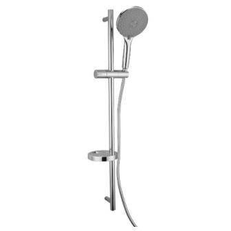 Штанга душова Imprese NETKA L-90см, мильниця, ручний душ 3 реж, шл 1,5м полімер з мет.еффектом вращ.конус (Anti-Twist) 9014003