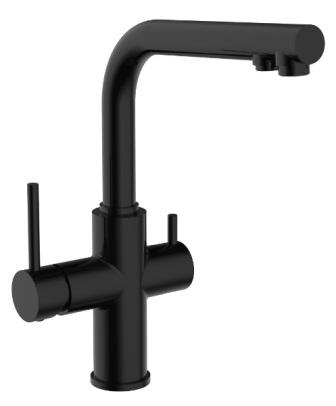 Змішувач Imprese DAICY для кухні одноважільний з підключенням питної води, (чорний) 55009B-F