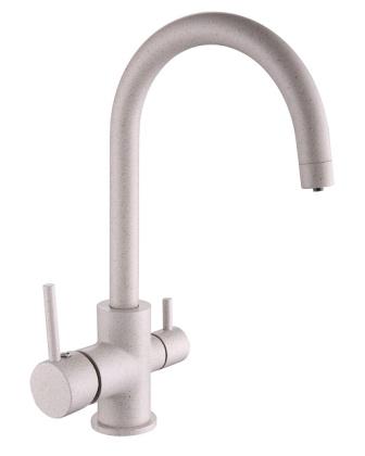 Смеситель Imprese DAICY-U для кухни с подключением питьевой воды, (песок) 55009-UG