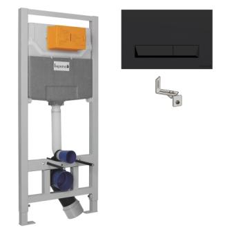 Комплект инсталляции Imprese 3в1 Imprese (черная клавиша) i8122B