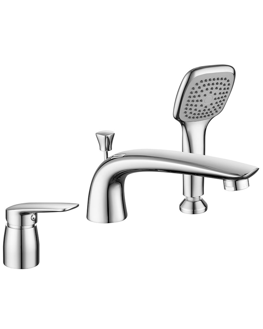 Смеситель Imprese PRAHA new для ванны, врезной, на три отверстия, хром, 35 мм 85030 new