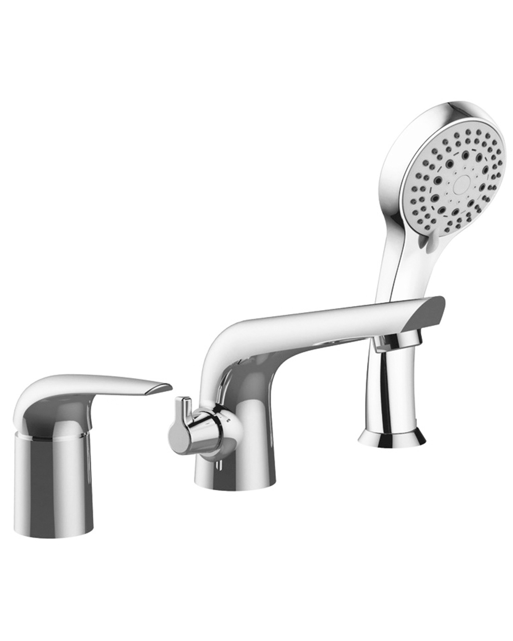 Смеситель Imprese KRINICE для ванны, врезной, на три отверстия, хром, 35 мм 85110