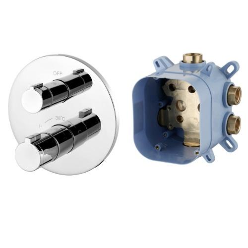 Змішувач Imprese CENTRUM для ванни, термостат, прихований монтаж (1 споживач), форма R VRB-15400Z