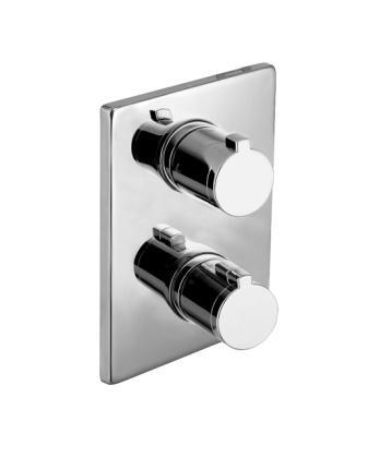 Смеситель Imprese CENTRUM для ванны, термостат, скрытый монтаж (3 потребителя) VRB-10400Z