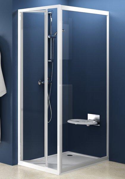 Стінка для душової кабіни Ravak PSS-75 grape, профіль білий, полістирол