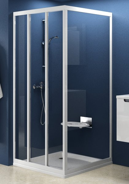 Стінка для душової кабіни Ravak APSS-90 pearl, профіль білий, полістирол