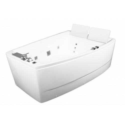 Ванна Volle акриловая асимметричная 1700*1200*630 мм, с гидромассажем, правая 12-88-100/R