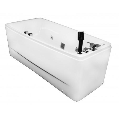 Ванна Volle акриловая асимметричная 1700*750*630 мм, с гидромассажем, левая 12-88-102/L