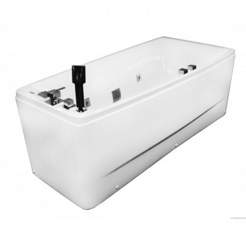 Ванна Volle акриловая асимметричная 1700*750*630 мм, с гидромассажем, правая 12-88-102/R