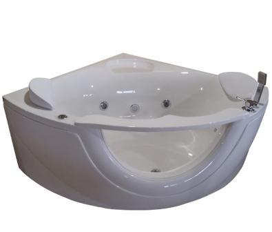 Ванна Volle акриловая угловая 1500*1500*630 мм с гидро-,аэромассажем 12-88-103А