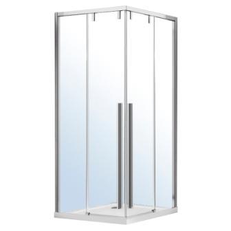 Душевая кабина Volle AIVA квадратная 1000*1000*1950мм, раздвижные двери, прозрачное стекло 8мм, хром, без поддона 10-22-680