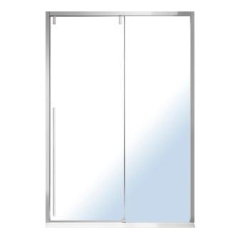 Дверь в нишу Volle AIVA 120*195, раздвижная, прозрачное стекло 8мм, хром 10-22-686