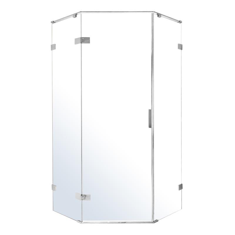 Душевая кабина Volle NEMO 5-тиугольная 900*900*2000мм, распашная, прозрачное стекло 8мм,зеркальный хром 10-22-170