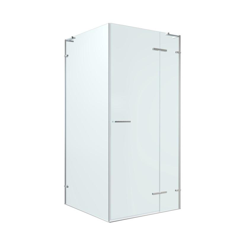 Душевая кабина Volle PUERTA квадратная 900*900*1950мм, распашная дверь, прозрачное стекло 8мм, хром 10-22-161