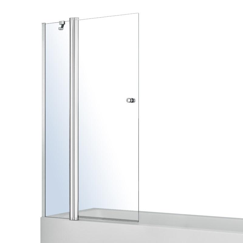 Шторка на ванну Volle з одним нерухомим елементом і поворотним на 180 °, з підйомом 1200X1400, прозоре скло 6мм, з кріпленням зі стіни і ручкою 10-11-101
