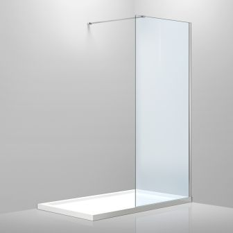 Стенка Volle 1200*2000 мм, каленое прозрачное стекло 8мм 18-08-120H