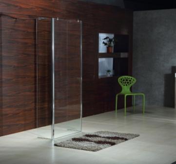 Стенка Volle 400*1900 мм, каленное прозрачное стекло 8мм 18-07-40